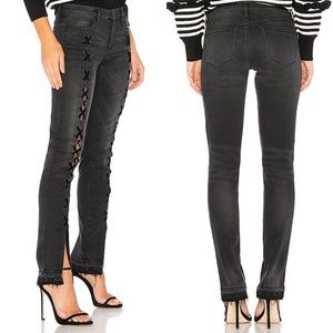 BLANK NYC Crash Tactics Lace-Up Skinny Jeans